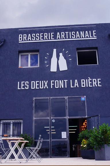 Facade de la brasserie Les deux font la bière