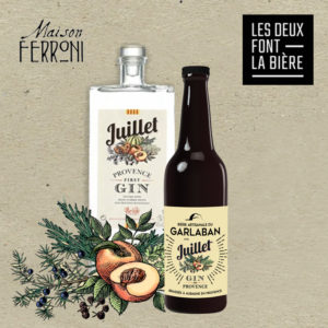 Bière du Garlaban au Gin Juillet de Ferroni
